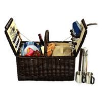 Picnic at Ascot Surrey Picnic Basket for 2 with Coffee Set in Blue