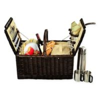 Picnic at Ascot Surrey Picnic Basket for 2 with Coffee Set in Yellow