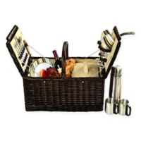 Picnic at Ascot Surrey Picnic Basket for 2 with Coffee Set in Tan
