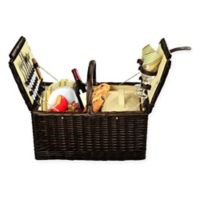 Picnic at Ascot Surrey Picnic Basket for 2 in Yellow