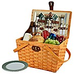 Picnic at Ascot Frisco Plaid Picnic Basket for 2 in Green