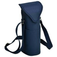 Picnic at Ascot Solid Wine/Water Bottle Tote in Navy
