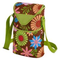 Picnic at Ascot 2-Bottle Floral Print Wine/Water Bottle Tote in Floral