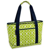 Picnic at Ascot Trellis Green Large Insulated Cooler Bag