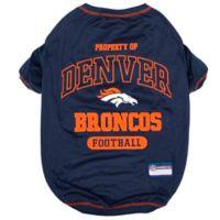 NFL Denver Broncos X-Large Pet T-Shirt