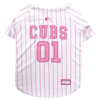 MLB Chicago Cubs X-Small Dog Jersey in Pink
