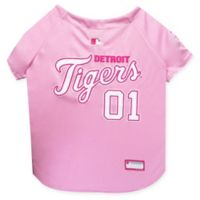 MLB Detroit Tigers X-Small Dog Jersey in Pink