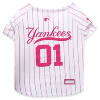 MLB New York Yankees Medium Dog Jersey in Pink