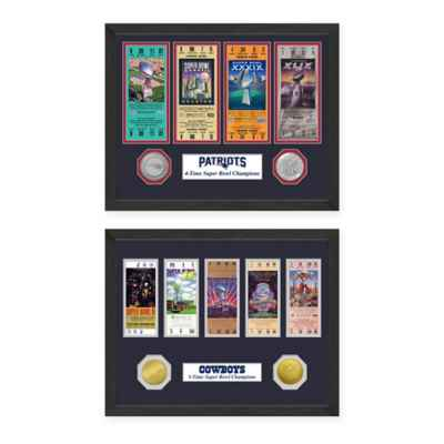 NFL Super Bowl Champions Ticket and Commemorative Coin Collection