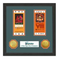 NFL Miami Dolphins Super Bowl Champions Ticket and Commemorative Coin Collection