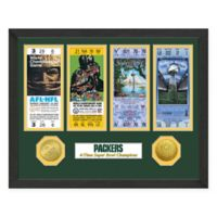 NFL Green Bay Packers Super Bowl Champions Ticket and Commemorative Coin Collection