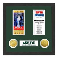 NFL New York Jets Super Bowl Champions Ticket and Commemorative Coin Collection