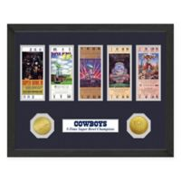 NFL Dallas Cowboys Super Bowl Champions Ticket and Commemorative Coin Collection