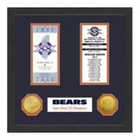 NFL Chicago Bears Super Bowl Champions Ticket and Commemorative Coin Collection