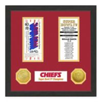NFL Kansas City Chiefs Super Bowl Champions Ticket and Commemorative Coin Collection