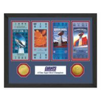 NFL New York Giants Super Bowl Champions Ticket and Commemorative Coin Collection