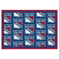 NHL New York Rangers 2-Foot 1-Inch x 7-Foot 8-Inch Repeat Rug