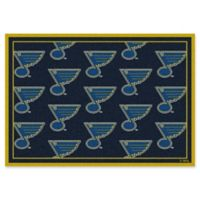 NHL St. Louis Blues 7-Foot 8-Inch x 10-Foot 9-Inch Repeat Area Rug