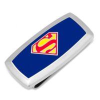 DC Comics Silvertone Superman Logo Cushion Money Clip