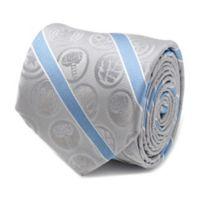 Marvel® Avengers Icon Silk Striped Tie in Grey