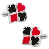 Cufflinks, Inc. Silvertone Full Card Suit Cufflinks
