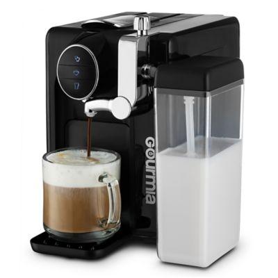 gourmia 1touch automatic espresso and cappuccino machine in black