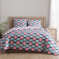 Clairebella Dreamcatcher Reversible 3-Piece King Comforter Set in Aqua