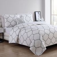 VCNY Home Ogee Twin Quilt Set in Silver
