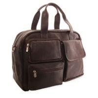 fb8ebdf8db Piel® Leather Multi-Pocket 16.5-Inch Carry On Duffel Bag in Chocolate