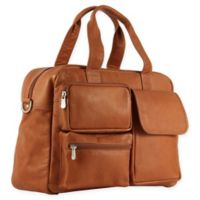 Piel® Leather Multi-Pocket 16.5-Inch Carry On Duffel Bag in Saddle