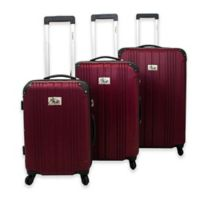 Chariot Monet 3-Piece Rolling Luggage Set in Burgundy