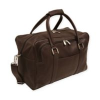 Piel® Leather 15-Inch Mini Carry On Duffel Bag in Chocolate
