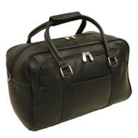 Piel® Leather 15-Inch Mini Carry On Duffel Bag in Black