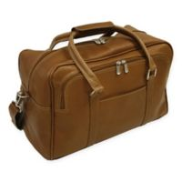 Piel® Leather 15-Inch Mini Carry On Duffel Bag in Saddle