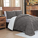 Avalanche Chandler Reversible 3-Piece King Comforter Set in Grey