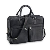 Piel® Leather Classic Checkpoint-Friendly Briefcase/Overnighter in Black
