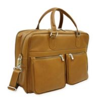 Piel® Leather Classic Checkpoint-Friendly Briefcase/Overnighter in Saddle