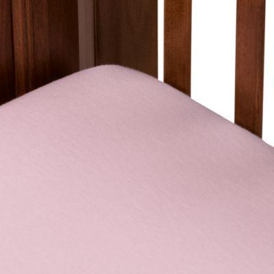 Cotton Flannel Crib Sheet in Pink