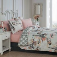 Cherie 8-Piece Queen Complete Comforter Set in Coral
