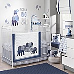 Lambs & Ivy® Elephant 3-Piece Crib Bedding Set in Indigo