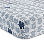 Lambs & Ivy® Elephant Fitted Crib Sheet in Indigo