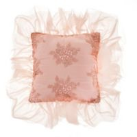 Glenna Jean Remember My Love Embroidered Square Throw Pillow