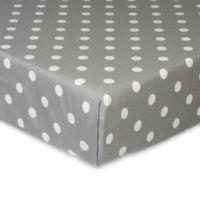 Glenna Jean Caitlyn Dot Fitted Crib Sheet in Grey