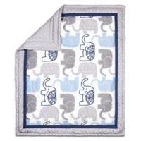 The Peanut Shell® Little Peanut Reversible Quilt in Navy
