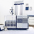The Peanut Shell® Whale 4-Piece Crib Bedding Set in Navy