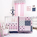 The Peanut Shell® Whale 4-Piece Crib Bedding Set in Pink