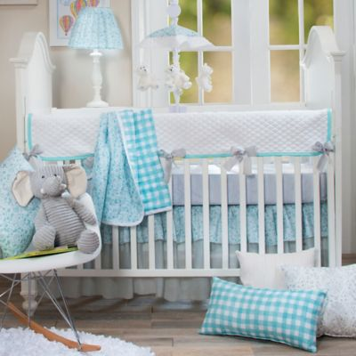 Crib Bedding Sets Glenna Jean Willow 4 Piece Set In Aqua
