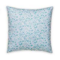 Glenna Jean Willow Print Throw Pillow in Aqua
