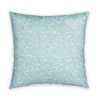 Glenna Jean Flossie Square Throw Pillow in Blue
