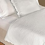 Glenna Jean Matelasse Queen Coverlet in White